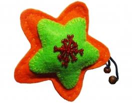 Игрушка новогодняя ручной работы Звезда