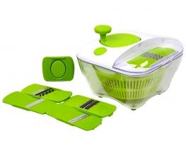 Многофункциональная овощерезка - салатница Salad all in one 9 в 1 фото