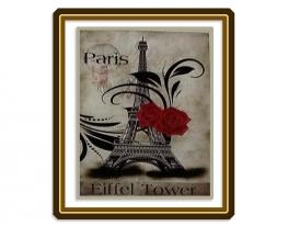 Набор для вышивки картины Париж 70х53см фото