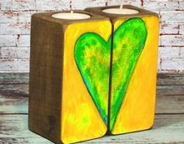 Подсвечник Влюблённые Сердца