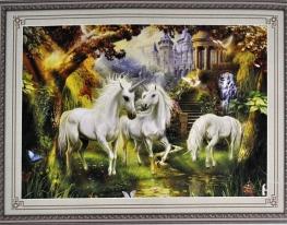 Набор для вышивки картины Единороги 62х45см фото