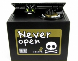 Интерактивная копилка Скелет в коробке фото