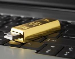USB-флешка Золотой слиток 8 Гб фото