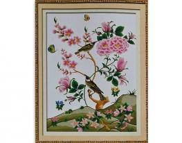 Набор для вышивки картины Соловьи 75х57см фото