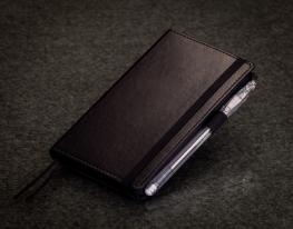 Блокнот с черной бумагой Черный мини фото