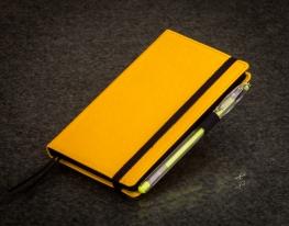Блокнот с черной бумагой Лимон мини фото