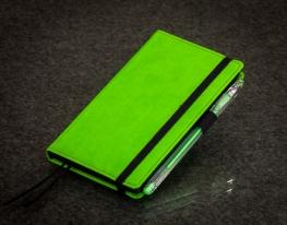 Блокнот с черной бумагой Зеленое Яблоко мини фото