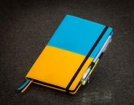 Блокнот с черной бумагой Флаг Украины стандарт фото