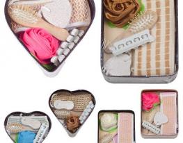 Набор подарочный банный в лукошке Сердце, 6 предметов фото