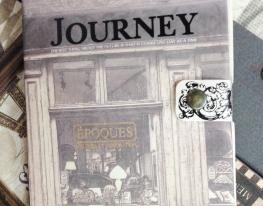 "Винтажный блокнот на кнопке ""Journey"" фото"
