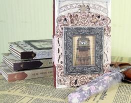 Винтажный блокнот с рамкой Лондон фото