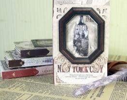 Винтажный блокнот с рамкой Нью Йорк фото