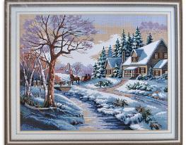 Набор для вышивки картины Зимняя Сказка 56х47см фото