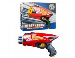 Бластер Blazer Storm с 10 поролоновыми снарядами и с 10 пулями-присосками фото