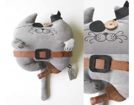 Мягкая игрушка Кот Пират фото