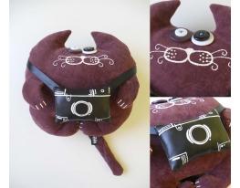 Мягкая игрушка Кот Фотограф Василий фото