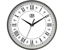 Часы настенные круглые стальные Римские цифры фото