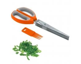 Ножницы для зелени прямая ручка 22 см Оранжевые фото 1