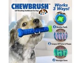 Первая в мире самоочищающаяся зубная щетка для собак ChewBrush фото