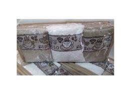 Набор махровых полотенец Кофемания фото