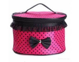 Косметичка Bow storage bag Розовая в горошек фото
