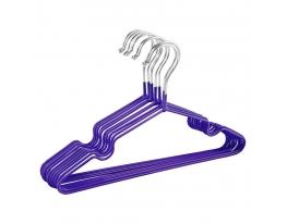 Набор металл. вешалок с силиконовым покрытием Фиолетовый(10 шт) фото 4