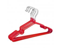 Набор металл. вешалок с силиконовым покрытием Красный (10 шт) фото 4