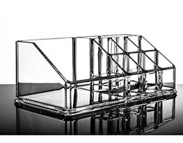 Подставка акриловая для косметики 9 ячеек, органайзер для украшений фото