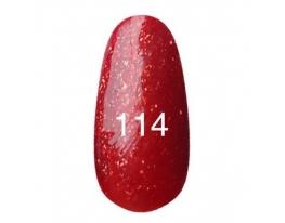 Гель - лак Kodi №114 Красный с плотным золотым блеском 12мл фото