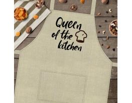 Фартук с надписью Queen of the kitchen фото