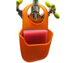 Держатель силиконовый для губки Оранжевый фото