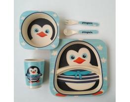 Набор детский Бамбук Пингвин фото