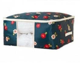 Кофр органайзер для постельного белья, одеял и одежды Синий фото