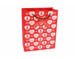 Пакет подарочный Sweet Love красный фото