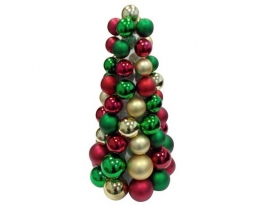 Новогодняя елка с игрушками Санта 38см фото