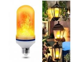 Лампа интерьерная с эффектом Пламени огня LED Flame Bulb E27 фото