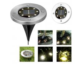 Уличный светильник на солнечной батарее Disk lights 8 led фото