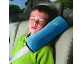 Подушка-накладка на ремень безопасности под голову Голубая фото