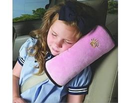 Подушка-накладка на ремень безопасности под голову Розовая фото 1