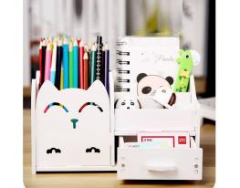 Подставка - органайзер для канцелярских предметов и мелочей Белая фото