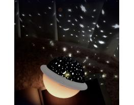 Проектор звездного неба Losso - детский ночник НЛО Белый фото 2
