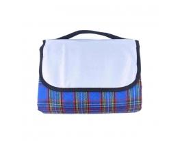 Плед коврик - сумка для пикника и пляжа Синий фото