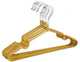 Набор детских металл. вешалок Золото(10 шт) фото