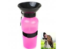 Дорожная поилка для собак Аqua Dog Розовая фото