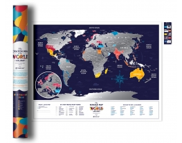 Скретч карта мир Travel Map Holiday World англ фото