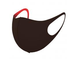 Трехслойная защитная маска многоразовая коричневый-красный фото 5