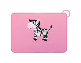 Детский силиконовый коврик 30х40 см Розовый фото 2