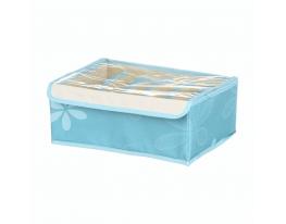 Ящик-органайзер для хранения белья 7 секций Голубой фото 5