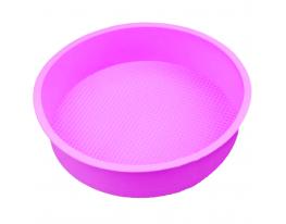 Форма силиконовая Круг диаметр 26 см Сиреневая фото 1