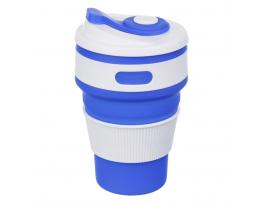 Чашка складная силиконовая Collapsible 5332 350мл, синяя фото 5